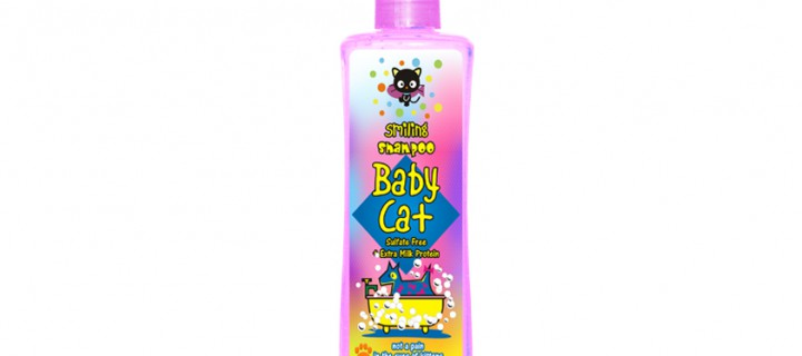 Smiling Shampoo Baby Cat